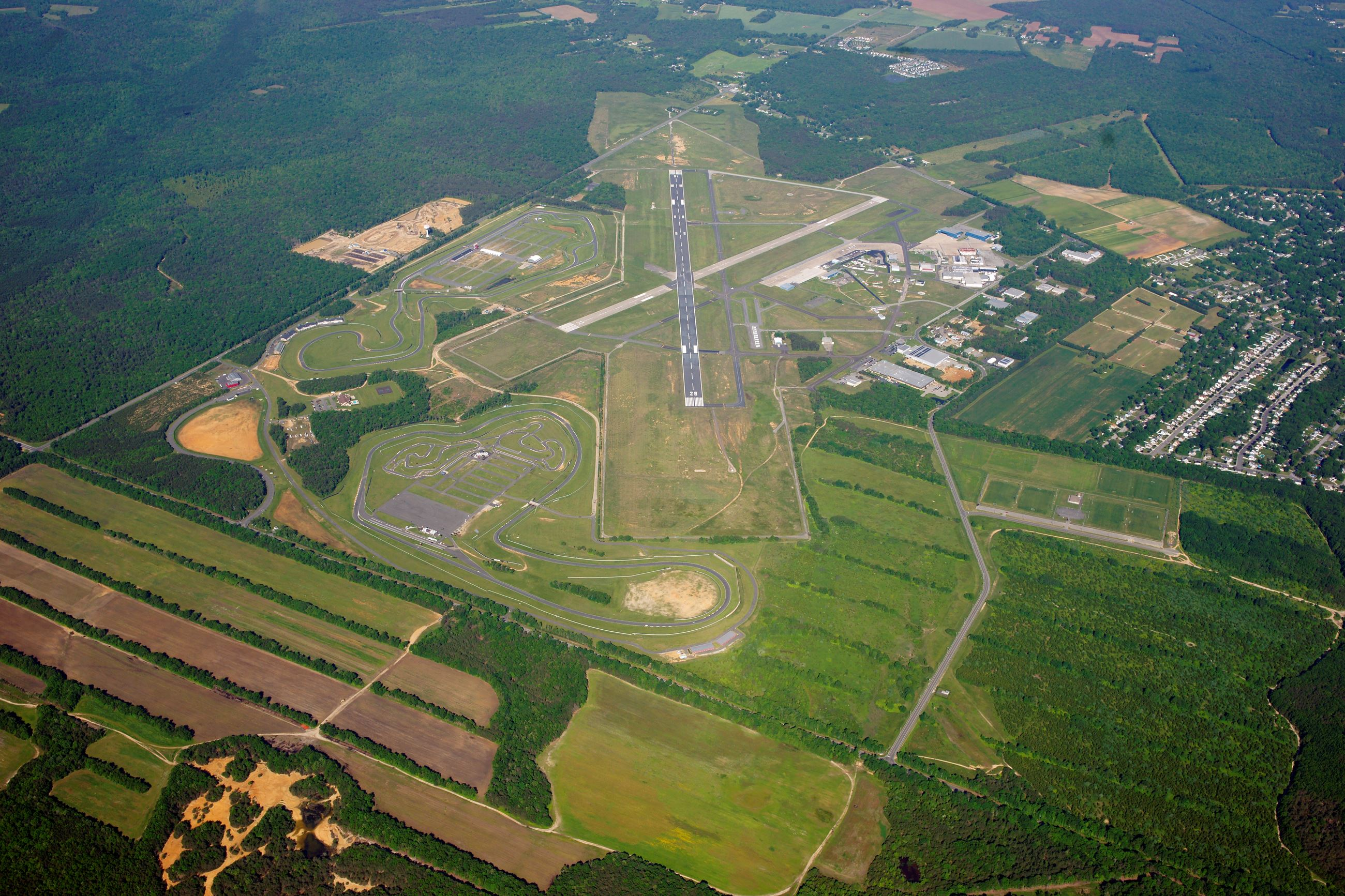 Aerial of Airport from Industrial Park